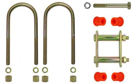 Montagekit für eine Blattfeder mit 3+1 Lagen für OPEL Campo