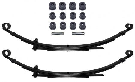 Zwei Blattfedern verstärkt für Suzuki SJ413 Hinterachse mit 5Lagen+Polyurethan Buchsen Set