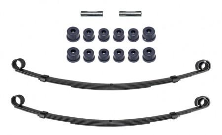 Zwei Blattfedern verstärkt für Suzuki SJ413 Vorderachse mit 4Lagen+Polyurethan Buchsen Set