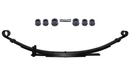 Eine Blattfeder verstärkt für Suzuki LJ80 Hinterachse mit 5Lagen+Polyurethan Buchsen Set
