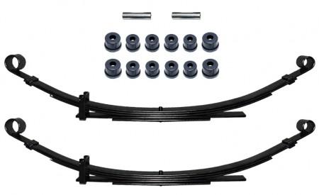 Zwei Blattfedern verstärkt für Suzuki Samurai Hinterachse mit 5Lagen+Polyurethan Buchsen Set