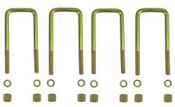 4 Federbügel für zwei Mitsubishi L200 Blattfedern 4+2 Lagen (Bj. 2006-2015)