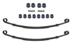 Zwei Blattfedern verstärkt für Suzuki LJ80 Vorderachse mit 4Lagen+Polyurethan Buchsen Set